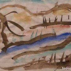 Arte: ACUARELA SOBRE PAPEL - PERICO PASTOR - FIRMADA. Lote 120528279