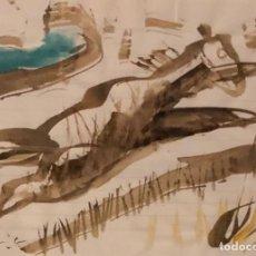 Arte: ACUARELA SOBRE PAPEL - PERICO PASTOR - FIRMADA. Lote 120528571