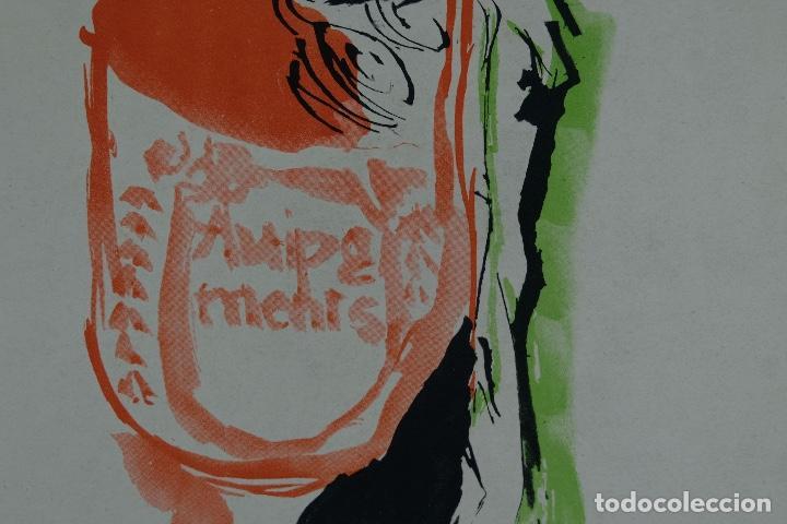 Arte: Acuarela sobre papel Composición firma ilegible segunda mitad siglo XX - Foto 4 - 120564271