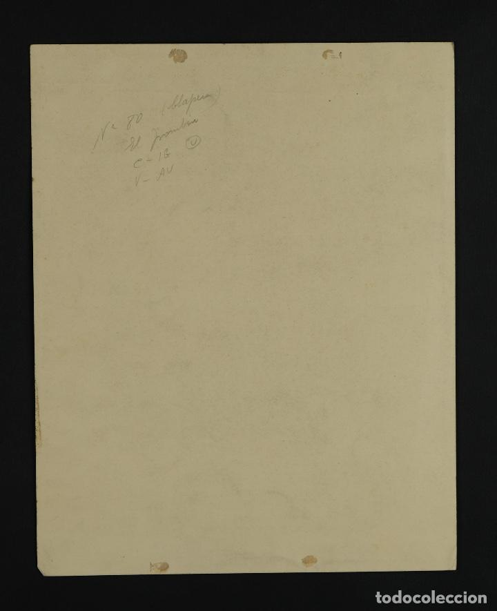Arte: Acuarela sobre papel Composición firma ilegible segunda mitad siglo XX - Foto 6 - 120564271