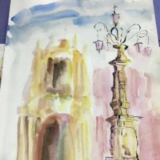 Arte: PINTURA ACUARELA - MEDIDA 42X30 CM. Lote 120838823