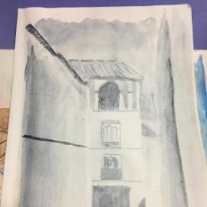 Arte: PINTURA ACUARELA - MEDIDA 42X30 CM -. Lote 120842263
