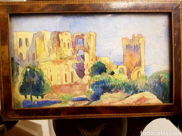 FELIX DEBRY, FIRMADA Y FECHADA EN 1927, PEQUEÑA ACUARELA DE GRAN CALIDAD. 22X14CM (Arte - Acuarelas - Contemporáneas siglo XX)