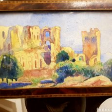 Arte: FELIX DEBRY, FIRMADA Y FECHADA EN 1927, PEQUEÑA ACUARELA DE GRAN CALIDAD. 22X14CM. Lote 120923091