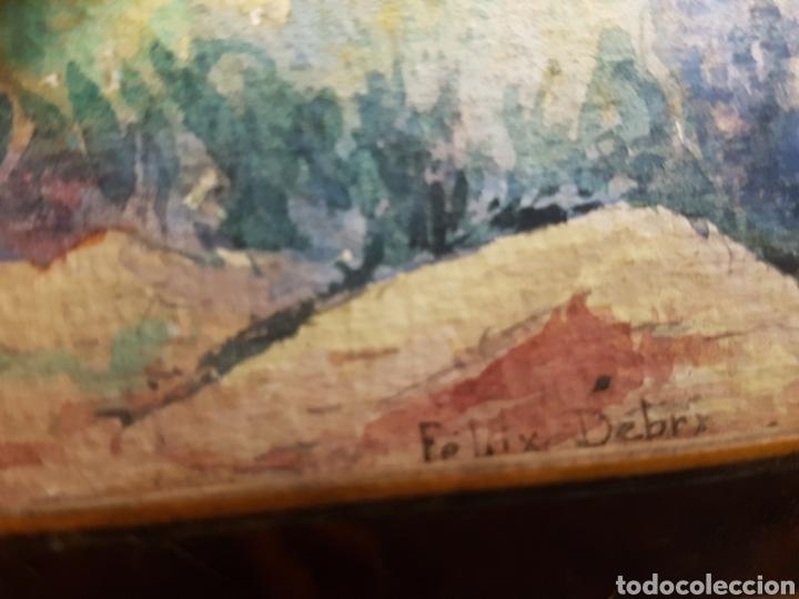 Arte: FELIX DEBRY, FIRMADA Y FECHADA EN 1927, PEQUEÑA ACUARELA DE GRAN CALIDAD. 22X14CM - Foto 2 - 120923091