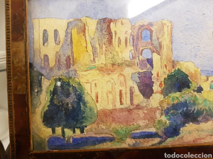 Arte: FELIX DEBRY, FIRMADA Y FECHADA EN 1927, PEQUEÑA ACUARELA DE GRAN CALIDAD. 22X14CM - Foto 4 - 120923091