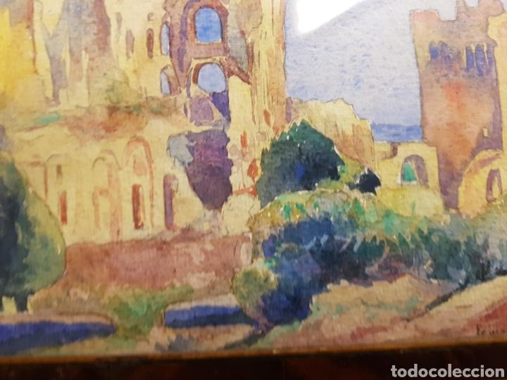 Arte: FELIX DEBRY, FIRMADA Y FECHADA EN 1927, PEQUEÑA ACUARELA DE GRAN CALIDAD. 22X14CM - Foto 5 - 120923091