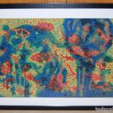 Arte: THURGOOD 1967 - PAISAJE CORALINO, MULTITUD DE PECES ROJOS EN EL ARRECIFE. Lote 30069697