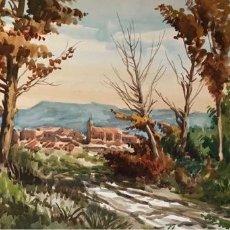 Arte: ACUARELA SOBRE PAPEL - MARIANO BRUNETE - FIRMADA. Lote 121519323