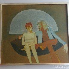 Arte: INTERESANTE OBRA SOBRE TABLA - FIRMADA WILLIAM - 1974. Lote 122364559