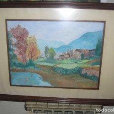 Arte: ACUARELA . FIRMADA ALEJANDRO... - PAISAJE. Lote 123224599