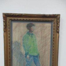 Arte: ACUARELA - PERE GUSSINYER (OLOT, 1890-1980) - FIGURA, SOBRE TABLEX. Lote 123235287