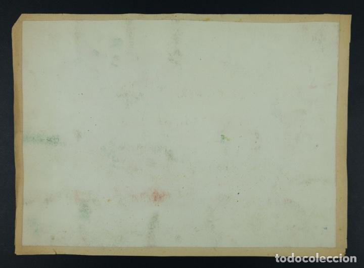 Arte: Acuarela sobre papel Paisaje viñas mediados siglo XX - Foto 9 - 123273671