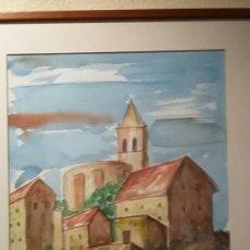 Arte: ACUARELA DE VÍCTOR MICENA 1999. Lote 123276107
