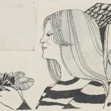 Arte: BOADA, PEDRO, ILUSTRACIÓN ORIGINAL 1972. Lote 123357263