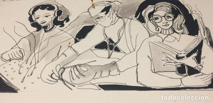 CIRUJIA. BOADA, PEDRO, ILUSTRACIÓN ORIGINAL 1972 (Arte - Acuarelas - Contemporáneas siglo XX)