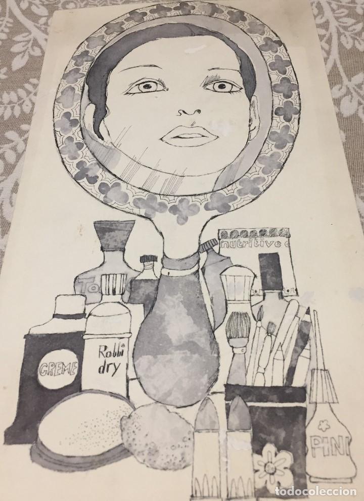 Arte: Boada, Pedro, ilustración original 1972 - Foto 2 - 123358323