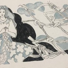 Arte: BOADA, PEDRO, ILUSTRACIÓN ORIGINAL 1972. Lote 123359415