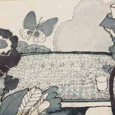 Arte: BOADA, PEDRO, ILUSTRACIÓN ORIGINAL 1972. Lote 123359663