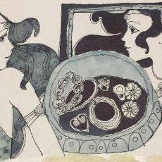 Arte: BOADA, PEDRO, ILUSTRACIÓN ORIGINAL 1972. Lote 123359751
