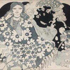 Arte: BOADA, PEDRO, ILUSTRACIÓN ORIGINAL 1972. Lote 123360199