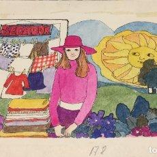 Arte: BOADA, PEDRO, ILUSTRACIÓN ORIGINAL 1972. Lote 123360419