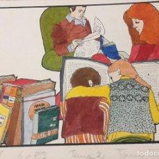 Arte: BOADA, PEDRO, ILUSTRACIÓN ORIGINAL 1972. Lote 123361039