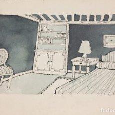 Arte: BOADA, PEDRO, ILUSTRACIÓN ORIGINAL 1972. Lote 123362303