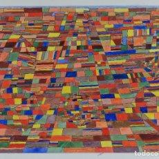 Arte: ISABEL SERRAHIMA (1934-1999) GOAUCHE Y TINTA SOBRE PAPEL COMPOSICIÓN GEOMÉTRICA. Lote 123517595