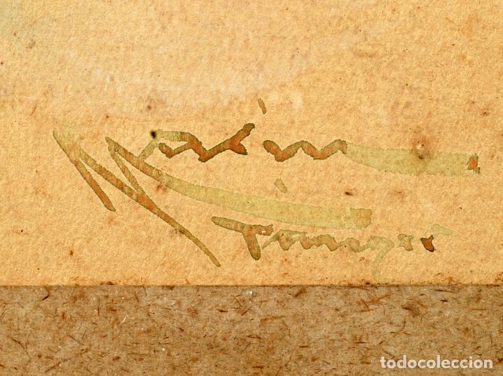Arte: Acuarela personaje orientalista Diego Marín López Tanger firmado Granada 1865 1917 - Foto 5 - 124010999