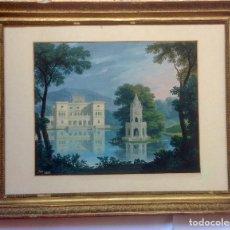 Arte: ANTIGUA PINTURA - PRECIOSA ACUARELA ORIGINAL , FIRMADA 1876. Lote 124309379