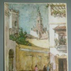Arte: LAMINA ARTE SEVILLA RINCONES DE ESPAÑA PRODUCTOS ROCHE. Lote 125292478