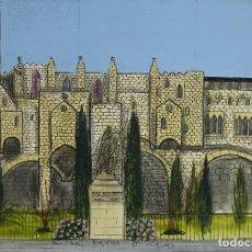 Arte: GUARELA GOUACHE Y TINTA SOBRE PAPEL PAU CLARIS BARCELONA FIRMADO CASTELLA 1989. Lote 125424927