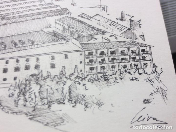 Arte: PLANOS MUSEO ARTE ROMANO MERIDA DIBUJO FIRMA LEIVA FACHADA ANTIGUO ORIGINAL PLUMILLA - Foto 6 - 110117515
