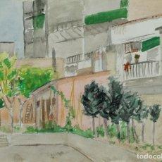 Arte: ACUARELA SOBRE PAPEL PATI FIRMADO J.MUSONS MEDIADOS SIGLO XX. Lote 125947119