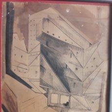 Arte: M. CAZORLA. DIBUJO Y AGUADA.. Lote 125948775