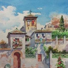 Arte: ORIGINAL FIRMADO: L. PALOMARES 1961 - GRANADA: PINTURA COSTUMBRISTA. Lote 126344791