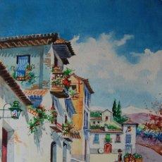 Arte: ORIGINAL FIRMADO: L. PALOMARES 1961 - GRANADA: PINTURA COSTUMBRISTA. Lote 126345231