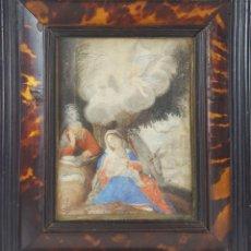 Arte: VIRGEN MARÍA. ACUARELA SOBRE PAPEL. MARCO ANTIGUO. ESPAÑA. SIGLO XVII-XVIII.. Lote 126459403