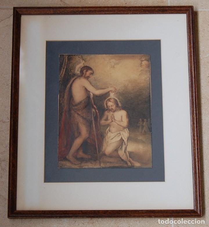 Arte: Original del siglo XVIII - Bautismo de Jesús en el Jordán - Foto 8 - 54261252
