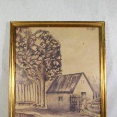 Arte: CARRASCO DIAZ - ACUARELA ORIGINAL FIRMADA Y FECHADA. Lote 127019103