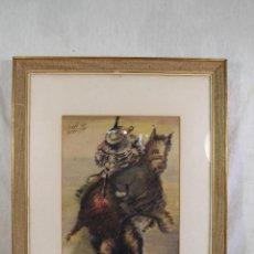 Arte: ANTONIO CARRASCO DIAZ - ACUARELA ORIGINAL FIRMADA Y FECHADA. Lote 127023151