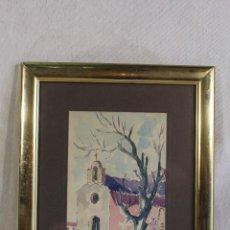 Arte: CANOVAS - ERMITA DE SAN JOSÉ - ACUARELA ORIGINAL FIRMADA Y FECHADA. Lote 127027151