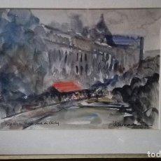 Arte: ACUARELA PARÍS, JAUME MERCADÉ. Lote 127844759