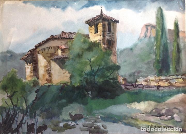 JOAN TORRABADELL ACUARELA SOBRE PAPEL MEDIDAS 70 X 50 CMS (Arte - Acuarelas - Contemporáneas siglo XX)