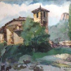 Arte: JOAN TORRABADELL ACUARELA SOBRE PAPEL MEDIDAS 70 X 50 CMS. Lote 127859879