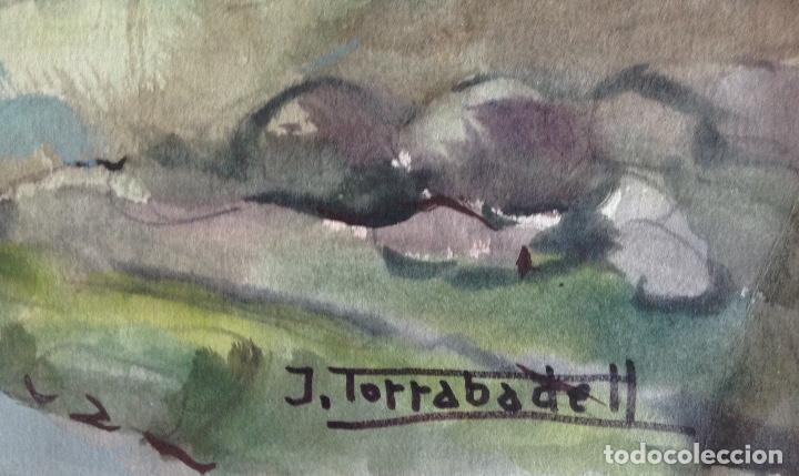 Arte: JOAN TORRABADELL ACUARELA SOBRE PAPEL MEDIDAS 70 X 50 CMS - Foto 2 - 127859879