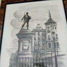 Arte: ACUARELA CASCORRO. Lote 127929403