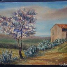 Arte: ACUARELA DEL SIGLO XX DEL PINTOR A. CASTILLO. Lote 127937267
