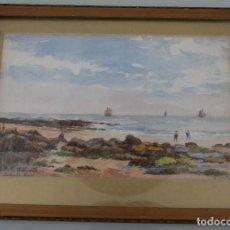 Arte: ANTIGUA ACUARELA WATER COLOUR FIRMADA Y FECHADA 1921 - ETIQUETA GEORGE TRUBEY FINE ART. Lote 128149915